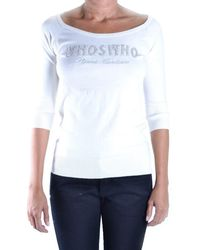Who*s Who - Women's White Cotton Jumper - Lyst