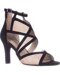 Rialto - Ria Strappy Dress Heel Sandals, Black - Lyst