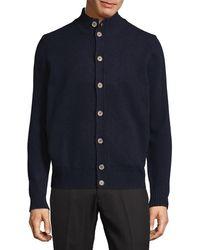Thomas Dean - Buttoned Wool Cardigan - Lyst