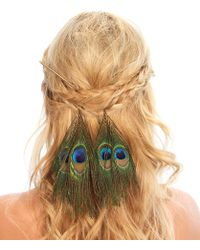 Kristin Perry - Peacock Feather Hair Sticks - Lyst