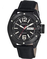 Morphic - M16 Leather-band Swiss Watch - Lyst
