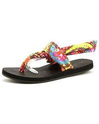 Rampage - Womens Jojo Fabric Open Toe Casual Slingback Sandals - Lyst