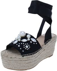 fd261720c71f01 Guess - Womens Razzle Satin Espadrille Platform Sandals - Lyst
