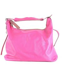 Gherardini - Women's Pink Leather Shoulder Bag - Lyst