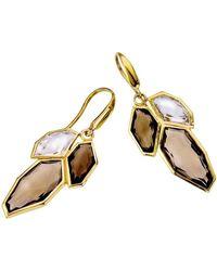Jewelista - 18k Vermeil White & Smoky Quartz Earrings - Lyst