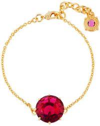 Les Nereides - La Diamantine Grenadine Round Stone Bracelet - Lyst