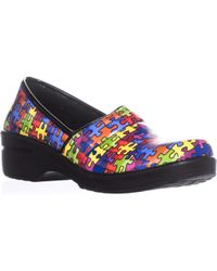 Easy Street - Easy Works By Lyndee Health Care Professional Shoes, Bright Multi Puzzle - Lyst