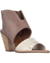 Mojo Moxy - Dolce By Mookie Heeled Sandals, Beige - Lyst