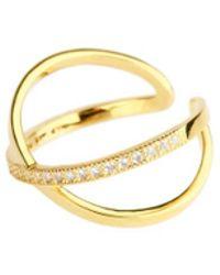 Saachi - Gold X Crystal Rings - Lyst