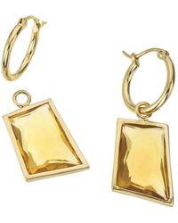 Jewelista - 18k Vermeil, Honey Quartz Detachable Drop Earrings - Lyst