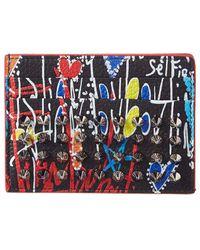 Christian Louboutin - Mens Kios Leather Card Holder, Black - Lyst