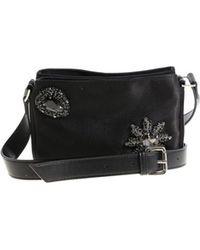 Pinko - Women's Black Fabric Shoulder Bag - Lyst