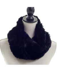 Surell - Sheared Rabbit Knitted Loop - Lyst