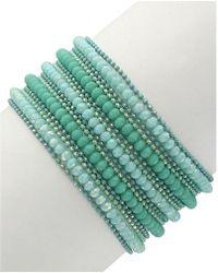 Sparkling Sage - Plated Resin Bracelet - Lyst
