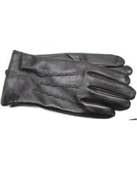 Ike Behar - Lambswool Lined Leather Touchscreen Gloves - Lyst