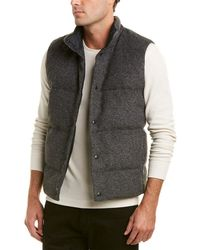 Vince - Quilted Wool-blend Down Vest - Lyst