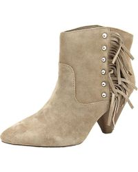INC International Concepts - Pallavi Women Pointed Toe Suede Brown Ankle Boot - Lyst
