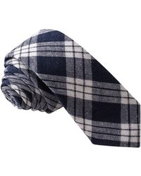 Skinny Tie Madness - Men's Navy Plaid Skinny Tie - Lyst