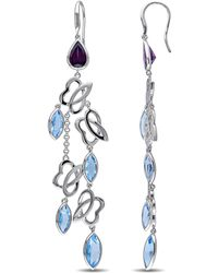 Julianna B - Blue Topaz & Swiss Blue Topaz Rhodolite Cuff Earrings - Lyst