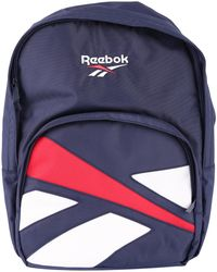 Reebok - Men's Blue Polyester Backpack - Lyst