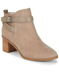 French Connection - Claudia Leather Bootie - Lyst