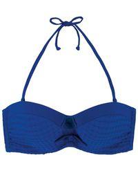 Marie Meili - Blue Bandeau Swimsuit Top Nerida - Lyst