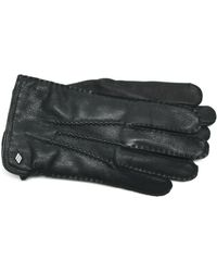 Joseph Abboud - Cashmere Cable Lined Deerskin Gloves - Lyst