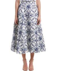 Notte by Marchesa - Silk-blend Full Skirt - Lyst