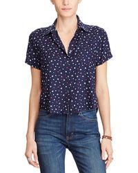 Denim & Supply Ralph Lauren - Cropped Star Print Shirt - Lyst