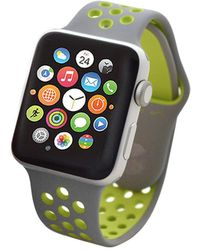 Apple   Nike+ Watch Series 2 42mm Silver Aluminum Case With Volt Nike Sport Band   Lyst