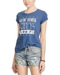 Denim & Supply Ralph Lauren - Graphic Print Cotton T Shirt - Lyst