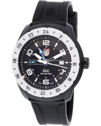 Luminox - Men's Space 5027 Black Rubber Swiss Quartz Sport Watch - Lyst