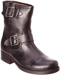 Frye - Women's Vicky Leather Engineer Boot - Lyst