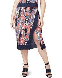 RACHEL Rachel Roy - Plus Size Crossover Stretch Knit Skirt - Lyst