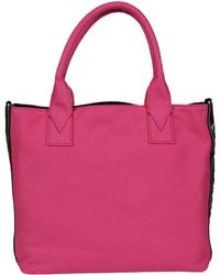 Pinko - Women's Fuchsia Cotton Tote - Lyst