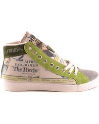 Springa - Men's Green Fabric Hi Top Sneakers - Lyst