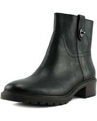 Coach Bond Women Round Toe Leather Black Mid Calf Boot Clothing, Shoes & Accessories Women's Shoes