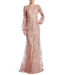 David Meister - Floral Embroidered Gown - Lyst