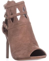 Nine West | Laulani Cutout Open Toe Dress Booties, Natural | Lyst