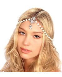 Kristin Perry - Draping Pearls Chain Headpiece - Lyst