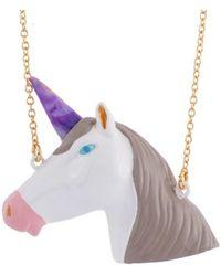 Les Nereides - Unicorn's Face Long Necklace - Lyst