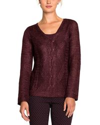 NIC+ZOE - Nic+zoe Petite Cable Wave Top - Lyst