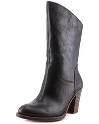 Lucky Brand - Embrleigh Round Toe Leather Mid Calf Boot - Lyst