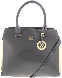 CXL by Christian Lacroix - Womens Lise Faux Leather Signature Satchel Handbag - Lyst