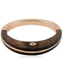 Socheec - Designer Sweet Wooden Ring In Rose Gold - Lyst