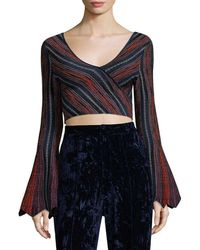 Torn By Ronny Kobo - Bell-sleeve Crop Top - Lyst