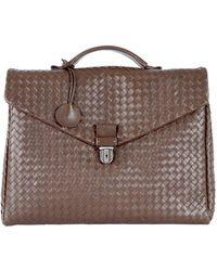 Bottega Veneta - Leather Weave Briefcase - Lyst