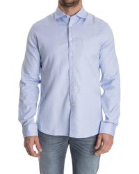 Missoni - Men's Light Blue Cotton Shirt - Lyst