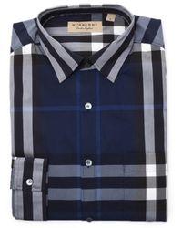 Burberry   Men's 40234824636b Blue Cotton Shirt   Lyst