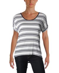 Nation Ltd - Womens Kendall Crinkled Striped Casual Top - Lyst